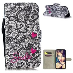 Lace Flower 3D Painted Leather Wallet Phone Case for Samsung Galaxy M30