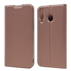 Ultra Slim Card Magnetic Automatic Suction Leather Wallet Case for Samsung Galaxy M30 - Rose Gold