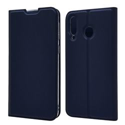 Ultra Slim Card Magnetic Automatic Suction Leather Wallet Case for Samsung Galaxy M30 - Royal Blue