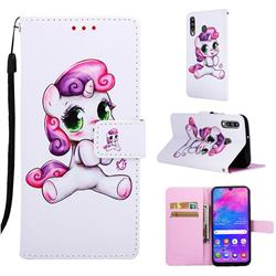 Playful Pony Matte Leather Wallet Phone Case for Samsung Galaxy M30