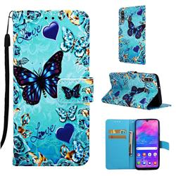 Love Butterfly Matte Leather Wallet Phone Case for Samsung Galaxy M30