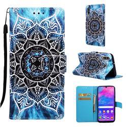 Underwater Mandala Matte Leather Wallet Phone Case for Samsung Galaxy M30