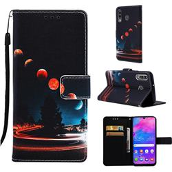 Wandering Earth Matte Leather Wallet Phone Case for Samsung Galaxy M30
