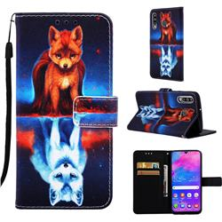 Water Fox Matte Leather Wallet Phone Case for Samsung Galaxy M30