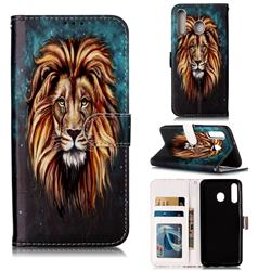 Ice Lion 3D Relief Oil PU Leather Wallet Case for Samsung Galaxy M30