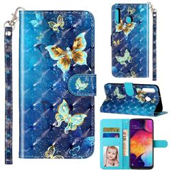 Rankine Butterfly 3D Leather Phone Holster Wallet Case for Samsung Galaxy M30