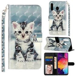 Kitten Cat 3D Leather Phone Holster Wallet Case for Samsung Galaxy M30