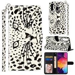 Leopard Panther 3D Leather Phone Holster Wallet Case for Samsung Galaxy M30