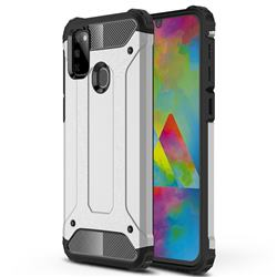 King Kong Armor Premium Shockproof Dual Layer Rugged Hard Cover for Samsung Galaxy M30s - White