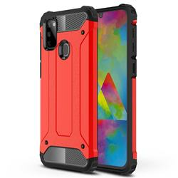 King Kong Armor Premium Shockproof Dual Layer Rugged Hard Cover for Samsung Galaxy M30s - Big Red