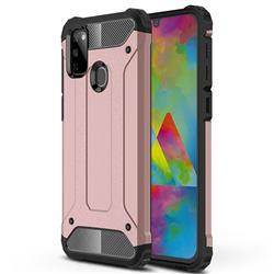 King Kong Armor Premium Shockproof Dual Layer Rugged Hard Cover for Samsung Galaxy M30s - Rose Gold