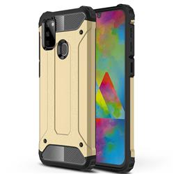 King Kong Armor Premium Shockproof Dual Layer Rugged Hard Cover for Samsung Galaxy M30s - Champagne Gold