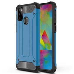King Kong Armor Premium Shockproof Dual Layer Rugged Hard Cover for Samsung Galaxy M30s - Sky Blue