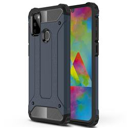 King Kong Armor Premium Shockproof Dual Layer Rugged Hard Cover for Samsung Galaxy M30s - Navy