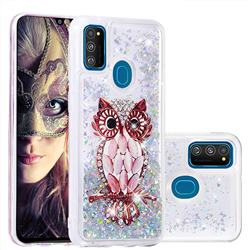 Seashell Owl Dynamic Liquid Glitter Quicksand Soft TPU Case for Samsung Galaxy M30s