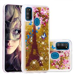 Golden Tower Dynamic Liquid Glitter Quicksand Soft TPU Case for Samsung Galaxy M30s