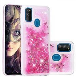Dynamic Liquid Glitter Quicksand Sequins TPU Phone Case for Samsung Galaxy M30s - Rose