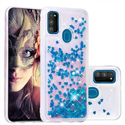 Dynamic Liquid Glitter Quicksand Sequins TPU Phone Case for Samsung Galaxy M30s - Blue