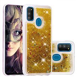 Dynamic Liquid Glitter Quicksand Sequins TPU Phone Case for Samsung Galaxy M30s - Golden
