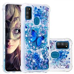 Flower Butterfly Dynamic Liquid Glitter Sand Quicksand Star TPU Case for Samsung Galaxy M30s