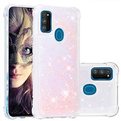 Dynamic Liquid Glitter Sand Quicksand TPU Case for Samsung Galaxy M30s - Silver Powder Star