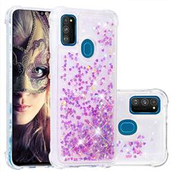 Dynamic Liquid Glitter Sand Quicksand Star TPU Case for Samsung Galaxy M30s - Rose