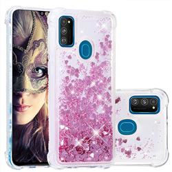 Dynamic Liquid Glitter Sand Quicksand Star TPU Case for Samsung Galaxy M30s - Diamond Rose
