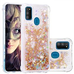 Dynamic Liquid Glitter Sand Quicksand Star TPU Case for Samsung Galaxy M30s - Diamond Gold