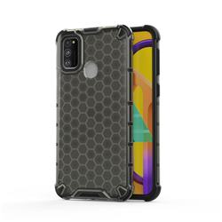 Honeycomb TPU + PC Hybrid Armor Shockproof Case Cover for Samsung Galaxy M30s - Gray