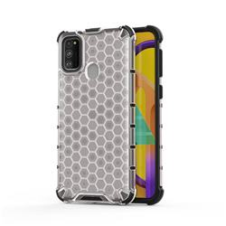 Honeycomb TPU + PC Hybrid Armor Shockproof Case Cover for Samsung Galaxy M30s - Transparent
