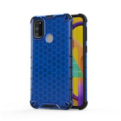 Honeycomb TPU + PC Hybrid Armor Shockproof Case Cover for Samsung Galaxy M30s - Blue