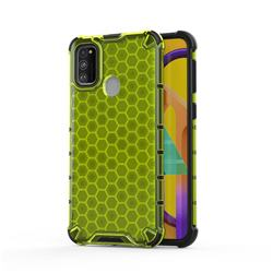 Honeycomb TPU + PC Hybrid Armor Shockproof Case Cover for Samsung Galaxy M30s - Green