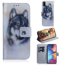 Snow Wolf PU Leather Wallet Case for Samsung Galaxy M30s