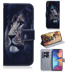 Lion Face PU Leather Wallet Case for Samsung Galaxy M30s