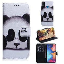 Sleeping Panda PU Leather Wallet Case for Samsung Galaxy M30s