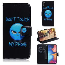 Not Touch My Phone PU Leather Wallet Case for Samsung Galaxy M30s