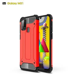 King Kong Armor Premium Shockproof Dual Layer Rugged Hard Cover for Samsung Galaxy M31 - Big Red