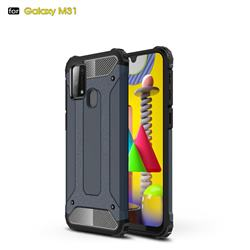 King Kong Armor Premium Shockproof Dual Layer Rugged Hard Cover for Samsung Galaxy M31 - Navy