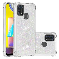 Dynamic Liquid Glitter Sand Quicksand Star TPU Case for Samsung Galaxy M31 - Pink