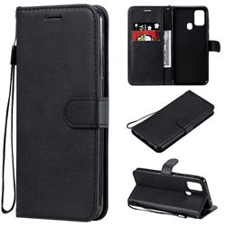 Retro Greek Classic Smooth PU Leather Wallet Phone Case for Samsung Galaxy M31 - Black