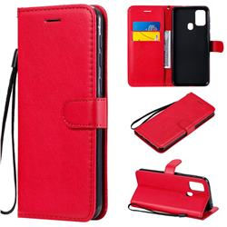 Retro Greek Classic Smooth PU Leather Wallet Phone Case for Samsung Galaxy M31 - Red