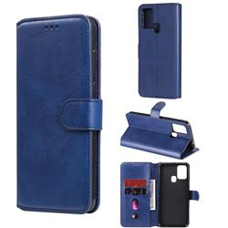 Retro Calf Matte Leather Wallet Phone Case for Samsung Galaxy M31 - Blue