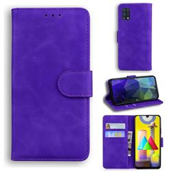 Retro Classic Skin Feel Leather Wallet Phone Case for Samsung Galaxy M31 - Purple
