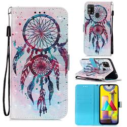 ColorDrops Wind Chimes 3D Painted Leather Wallet Case for Samsung Galaxy M31