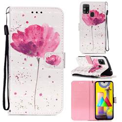 Watercolor 3D Painted Leather Wallet Case for Samsung Galaxy M31