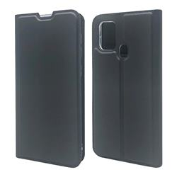 Ultra Slim Card Magnetic Automatic Suction Leather Wallet Case for Samsung Galaxy M31 - Star Grey