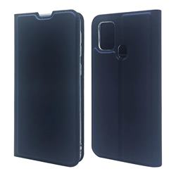 Ultra Slim Card Magnetic Automatic Suction Leather Wallet Case for Samsung Galaxy M31 - Royal Blue
