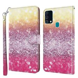 Gradient Rainbow 3D Painted Leather Wallet Case for Samsung Galaxy M31