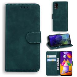 Retro Classic Skin Feel Leather Wallet Phone Case for Samsung Galaxy M31s - Green