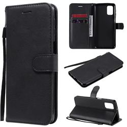 Retro Greek Classic Smooth PU Leather Wallet Phone Case for Samsung Galaxy M31s - Black